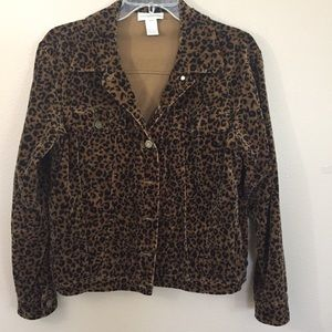 Jones New York Sport leopard Jacket Size S EUC
